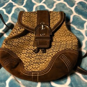 Authentic Coach Backpack Purse.